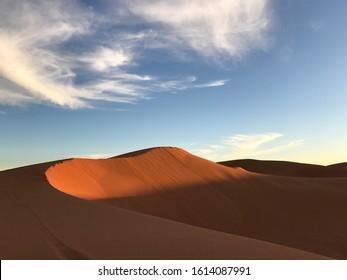 Sahara desert early morning view