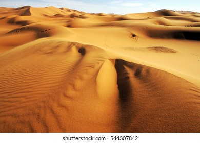 The Sahara Desert at Erg Chebbi in Morocco, North Africa.