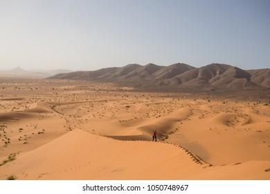 Sahara desert landscape. Morocco