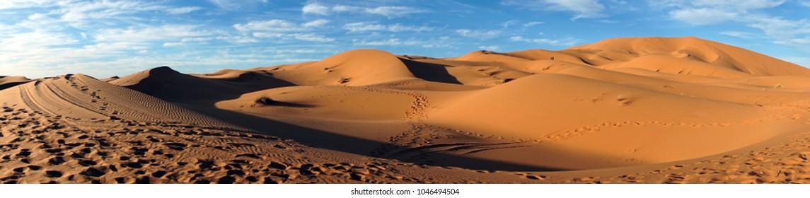 Sahara desert near Merzuga village in Morocco