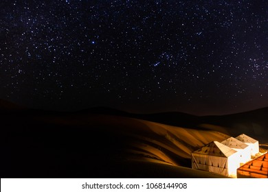 Sahara Desert Night Sunset