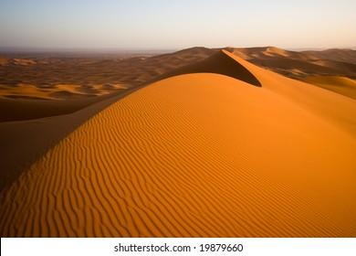 Sahara desert sand dunes landscape