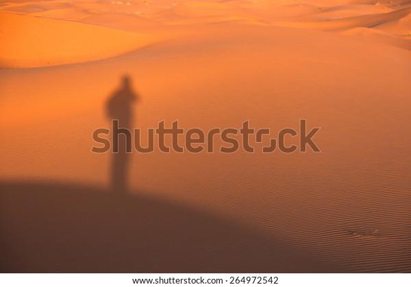 Sahara Desert, Sand Dunes at Sunset