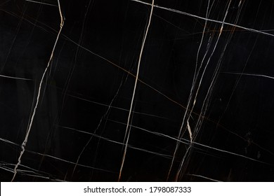 Sahara noir - natural marble stone, photo of slab texture for perfect interior of background.