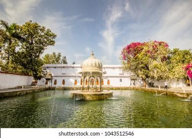 Saheliyon ki Bari gardens in Udaipur, India