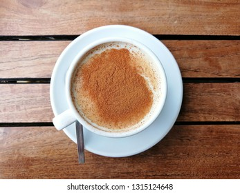 Sahlep (aka Salep, Sahleb or Sahlab), a Turkish hot creamy drink served with cinnamon. It is popular in winter.