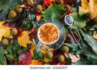 Sahlep on Autumn Leaves