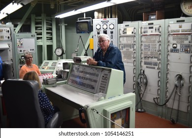 Sahuarita, Arizona. U.S.A. March 15, 2018. Titan II Missile Museum.  Titan II Launch Control Center.  This location requires at least two persons at all times-one officer and one enlisted.