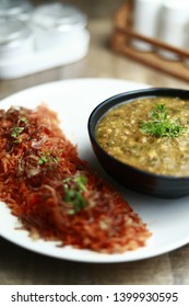 Sai bhaji with Onion Pulav (Traditional Sindhi food)