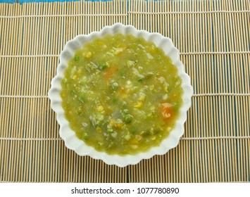 Sai Bhaji -  Sindhi vegetarian curry, consisting of dal ,lentils, palak ,spinach, and other vegetables.Sindhi cuisine