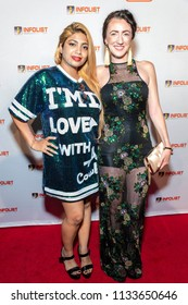 Sai Suman, Amber Martinez attend 2018 Infolist Pre Comic-Con Bash at OHM Nighclub, Hollywood, California on July 12, 2018