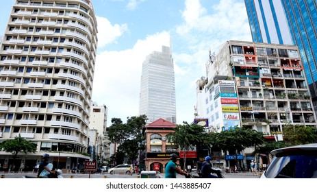 SAIGON, VIETNAM. 2019 Jun 19th. A View of Saigon Street and Traffic