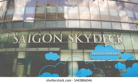 SAIGON, VIETNAM. 2019 Jun 19th. A Entrance of Saigon Skydeck, at Bitexco Tower