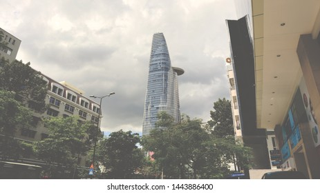 SAIGON, VIETNAM. 2019 Jun 19th. Viewing a Bitexco Financial Tower in Saigon