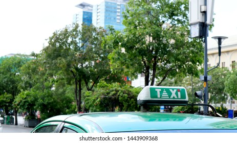 SAIGON, VIETNAM. 2019 Jun 19th. Top of Taxi in the Street