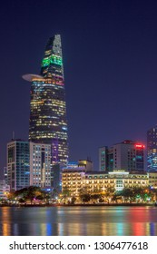 SAIGON, VIETNAM - JAN 29, 2019 - Bitexco Financial Tower is a 68-Storey, 262.5 m skyscraper in Ho Chi Minh City, Vietnam.