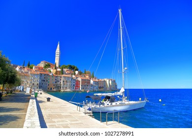 Sail boat near the Venetian town of Rovinj, Croatia