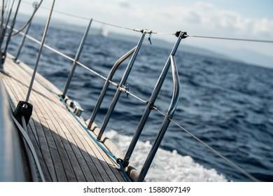 Sail boat in the race during Les Voiles de Saint-Tropez