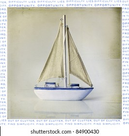 Sail boat with text