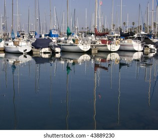 Sail boats in a harbor