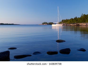 Sailboat in the archipelago.