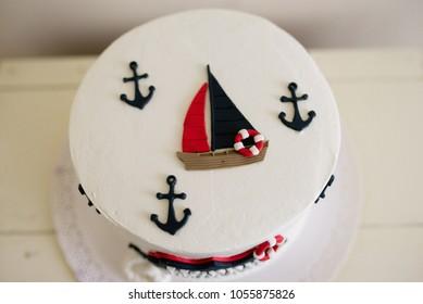 Sailboat birthday cake