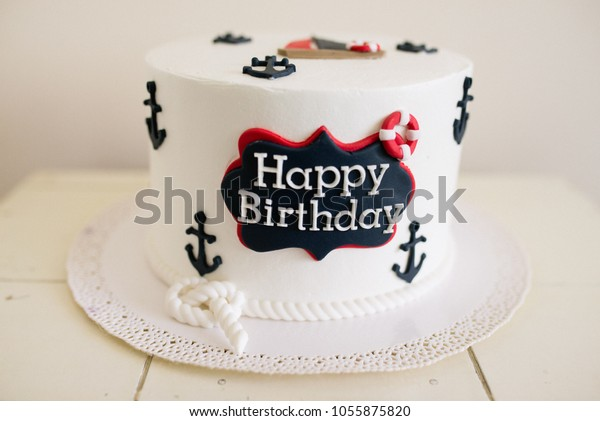 Outstanding Sailboat Birthday Cake Stock Photo Edit Now 1055875820 Funny Birthday Cards Online Sheoxdamsfinfo