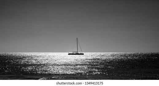 Sailboat in Black and white