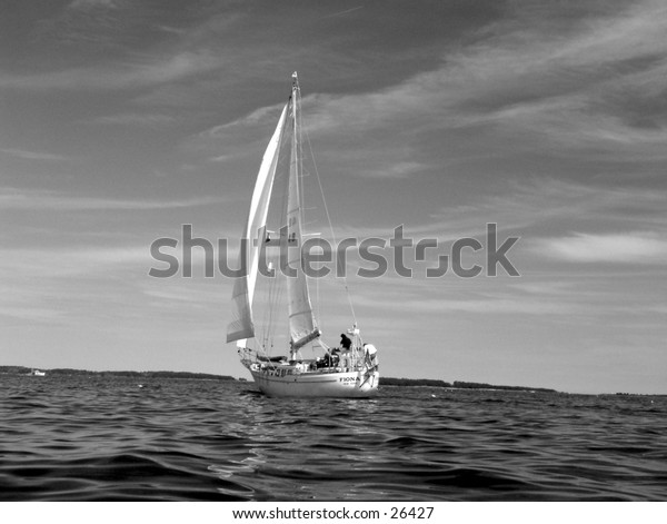 Sailboat in black & White
