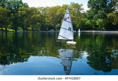 Sailboat in Central Park New York City