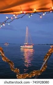Sailboat during a Florida Holiday Boat Parade