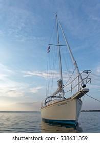 Sailboat at dusk
