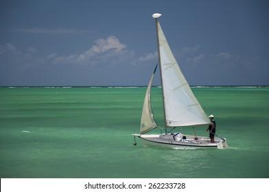 Sailboat at Maragogi Beach