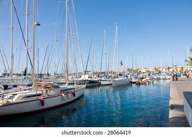 Sailboat marina