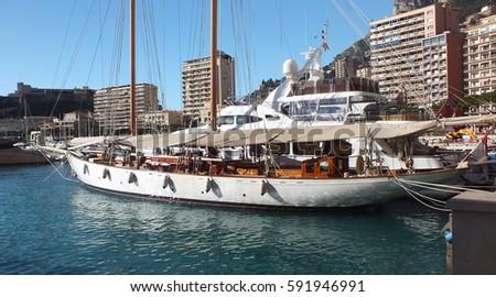 Sailboat in Monaco