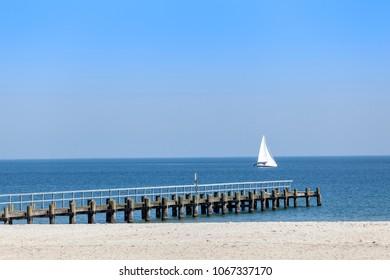 Sailboat on the Baltic Sea