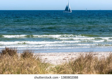 Sailboat on the Baltic Sea near Damp in Schleswig-Holstein, Germany