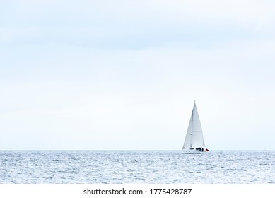 Sailboat on the Baltic Sea, Schleswig-Holstein,Germany
