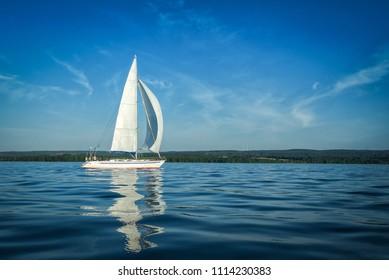 Sailboat on big Swedish lake