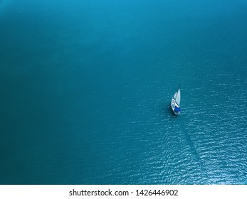 A sailboat on Lake Balaton