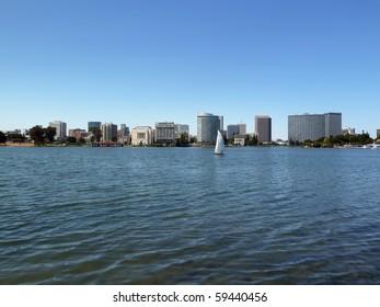 Sailboat on Lake Merritt, Oakland, California