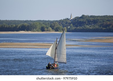 Sailboat on the Loire, France