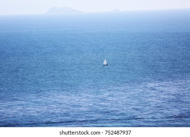 Sailboat on the Pacific Ocean