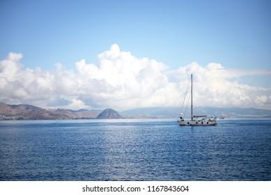 Sailboat on a sea, Greece
