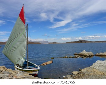 Sailboat on Titicaca Lake