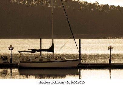 Sailboat on tranquil waters