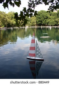 sailboat pond in new york's central park