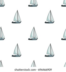 Sailboat for sailing.Boat to compete in sailing.Ship and water transport single icon in cartoon style bitmap, raster symbol stock illustration.