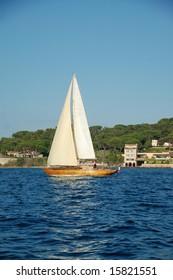 Sailboat in Saint-Tropez