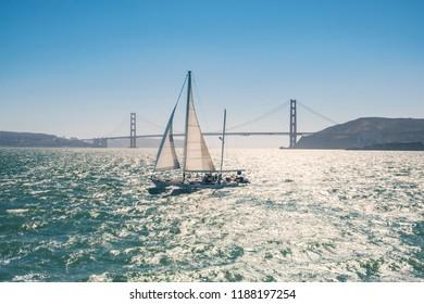 Sailboat in San Francisco bay